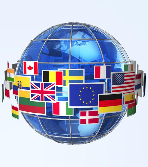 International communication concept